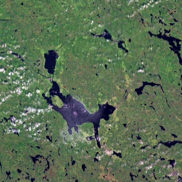 Der Siljan-Ring ist aus dem All noch klar erkennbar. Foto: Vesta - Created with NASA WorldWind using Landsat 7 (satellite image, commons.wikimedia.org, Public Domain.