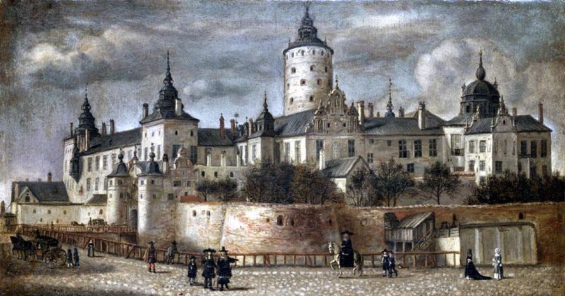 Gemälde tre kronor Schloss