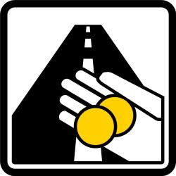Achtung Stau-Steuer! Dieses Zeichen kündigt eine kostenpflichtige Durchfahrt an.
