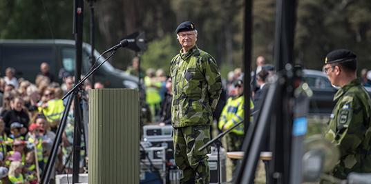 Försvarsmakten gotland p18 invigning
