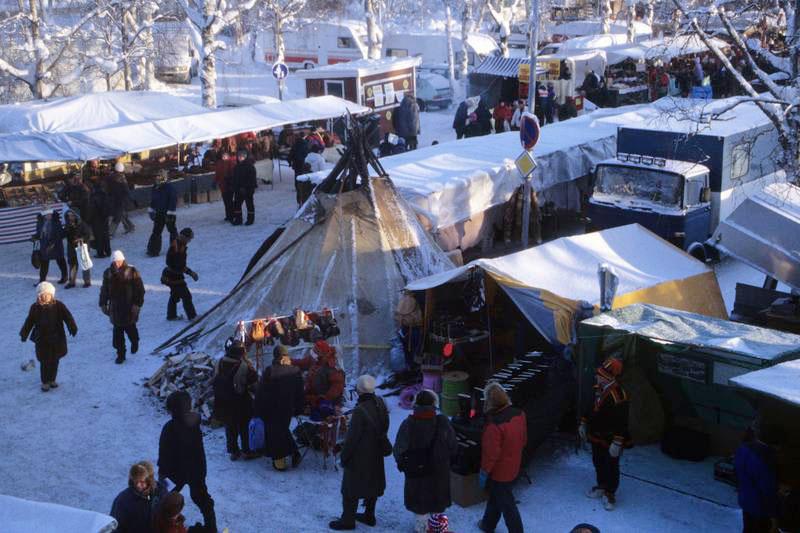 Viel zu entdecken auf dem Jokkmokk vintermarknad. Foto: Kulturhus Berlin.
