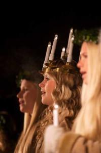 Lucia-Konzert in Folkets Park. Foto: Cecilia Larsson/ imagebank.sweden.se
