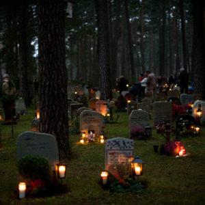 Friedhof Grablichter