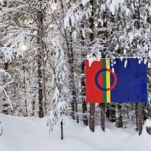 Die Flagge der Sami