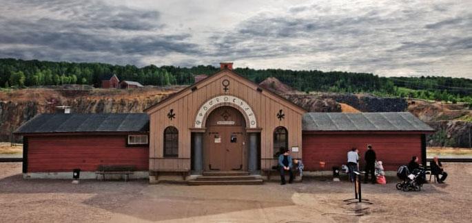 Der Eingang zur Falu gruva. Foto: Sebastian Ekman.