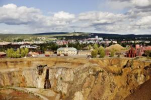 Die Kupfergrube am Fuße der Stadt Falun. Foto: Visit Södra Dalarna