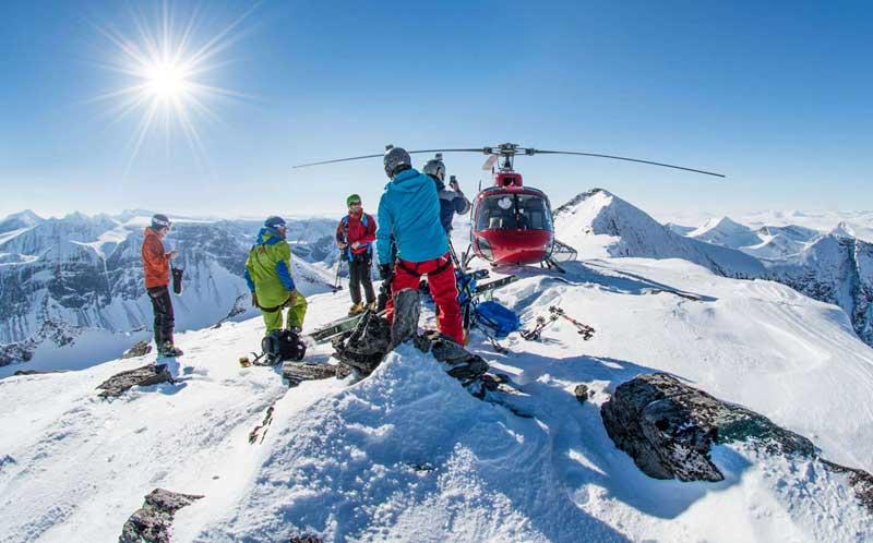 Heli-Ski in Schwedisch Lappland