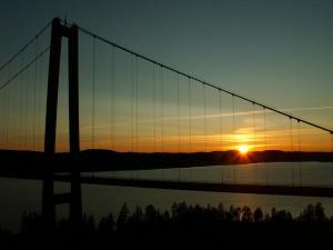 Einfahrt zum Welterbe: Die Höga-Kusten-Brücke. Foto: Hardo Müller/ flickr.com (CC BY-SA 2.0)