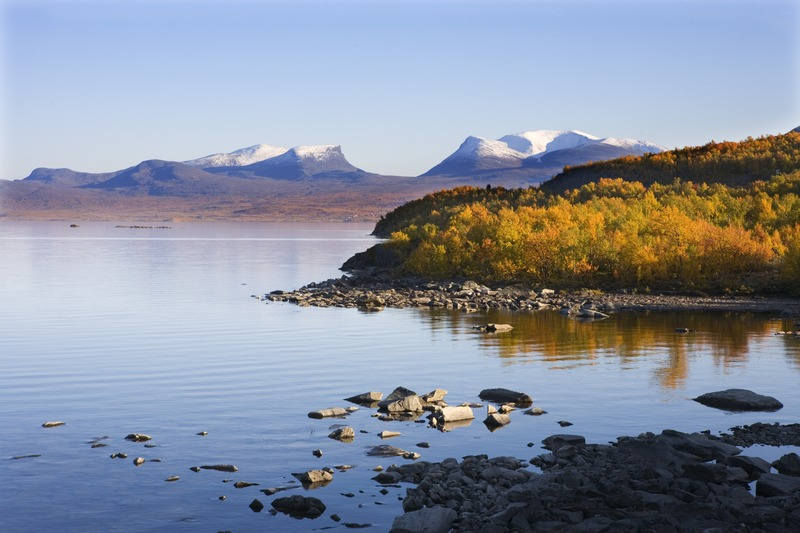 Blick auf Lapplands Pforte im Abisko Nationalpark. Foto: Katja Kristoferson/ Folio/ Imagebank.sweden.se