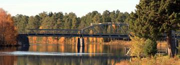 Die Mankell-Brücke in Sveg. Foto: Kulturcentrum Mankell.