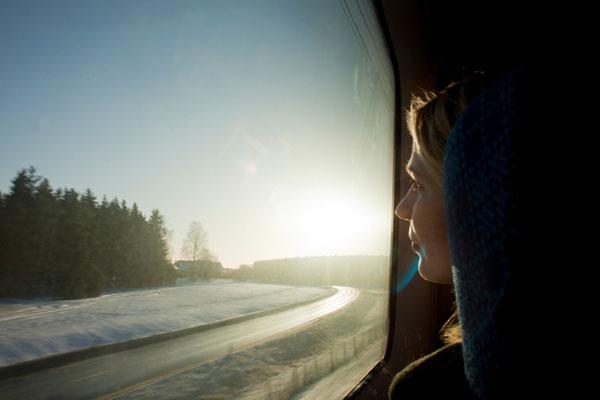 Mit dem Zug reisen und die Aussicht genießen... Foto: Melker Dahlstrand/ imagebank.sweden.se