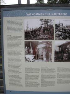 Infotafel an der ehemaligen Kupfermine in Nautanan