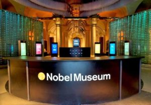 Der Eingang zum Nobel-Museum