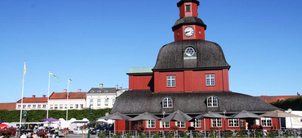 Das Rathaus von Lidköping war einst ein Jagdschloss. Foto: Västsverige.com
