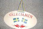 Välkommenschild Schwedische Flagge