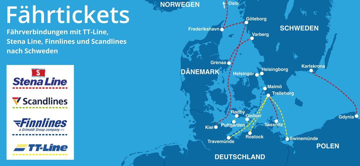 Karte Schweden Dänemark Deutschland.Fähre Nach Schweden Fähre Schweden Deutschland Finden