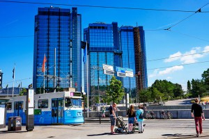 Die Gothia Towers mit drittem Turm. Foto: Simon Paulin/ imagebank.sweden.se