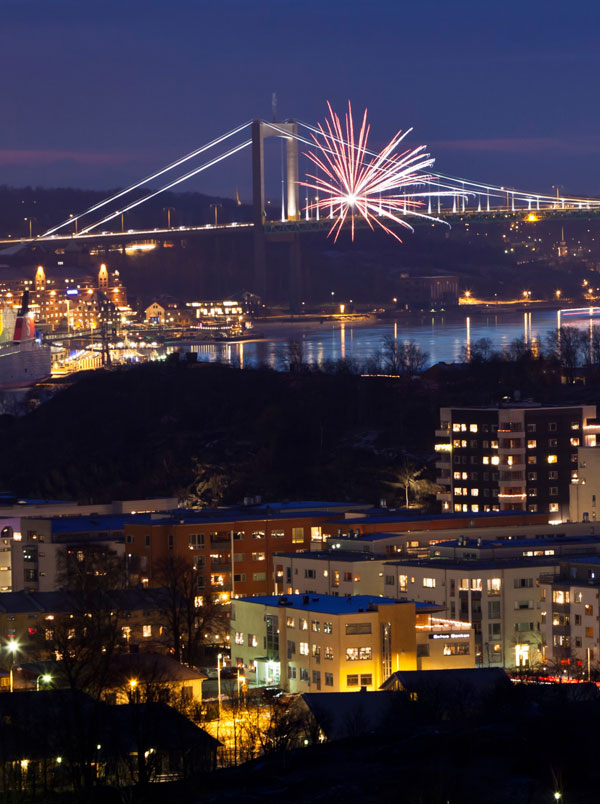Silvesterrakete über Göteborg. Foto: Stefan Isaksson, imagebank.sweden.se