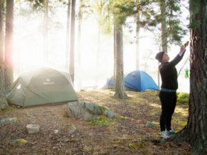 Das Jedermannsrecht erlaubt das Campen in der freien Natur.