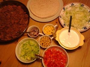 Zutaten für Tacos