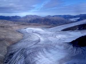 Eis auf dem arktischen Festland