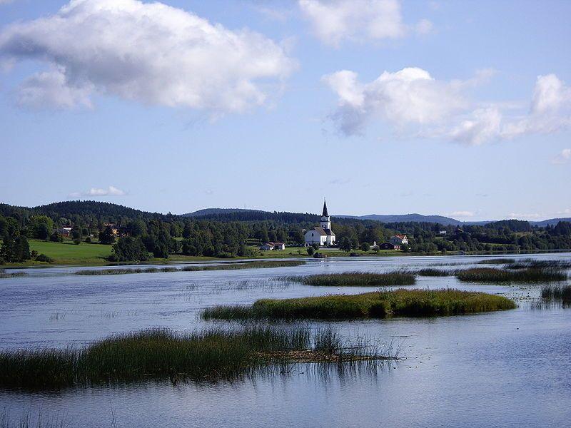 Fränsta, Ljungan bildet Torpsjön
