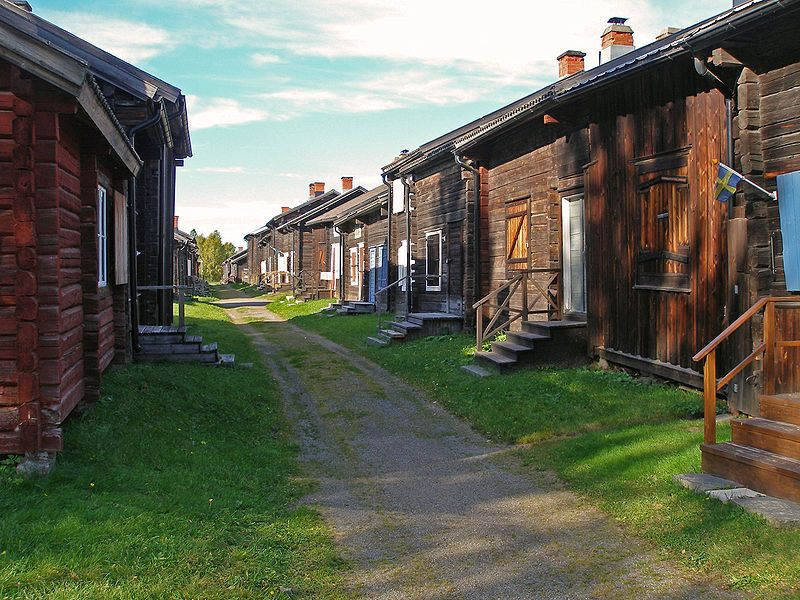 "Kyrkstad ""Bonnstan"" in Skellefteå. Foto: Jlundqvi (Jörgen Lundqvist) /commons.wikimedia.org (CC BY-SA 3.0)"