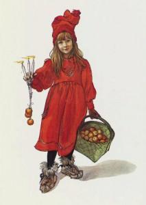 Carl Larssons Tochter Brita, eines seiner bekanntesten Gemälde. Bild aus Wikipedia
