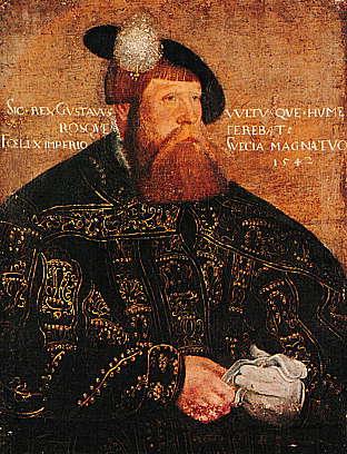 Aus der Kunstsammlung der Universität Uppsala: Gustav Vasa. Wahrscheinlich eine Ende des 16. Jhd. entstandene Kopie eines Porträts des Königs von 1542 von Jacob Binck. Quelle: commons.wikimedia.org