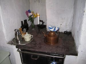 Kaffeekanne für den Påtår, ganz traditionell in einer Fäbod. Foto:Heide