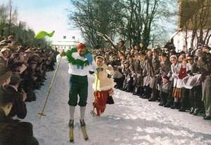Mora-Nisse als Sieger beim Wasalauf 1953. Bild aus Wikipedia. Fotograf unbekannt.