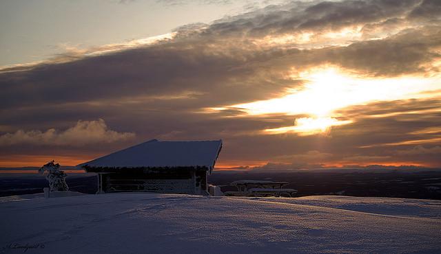Sonnenuntergang Idre fjäll. Foto: Alexander Lindquist /flickr.com (CC BY 2.0)