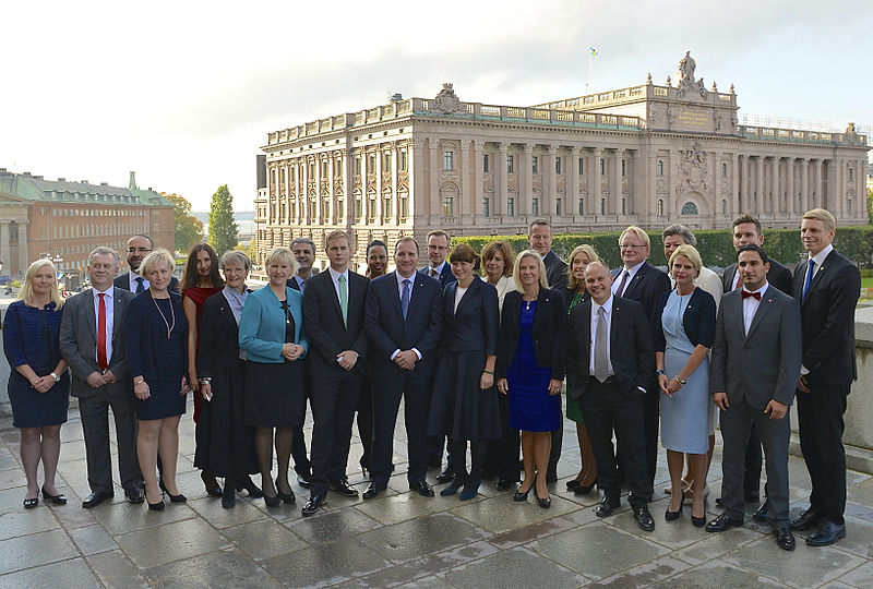 Die amtierende schwedische Regierung unter Statsminister Stefan Löfven. Foto: By Frankie Fouganthin (Own work) [CC BY-SA 4.0], via Wikimedia Commons