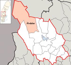 Älvdalisch wird in Älvdalen gesprochen. Bild aus Wikipedia