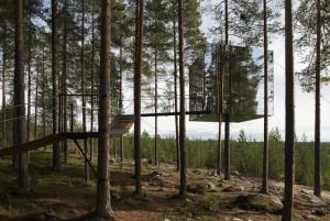 Baumhotel, der Spiegelwürfel. Fotograf: Åke Erikson Lindman, Tham & Videgård Arkitekter