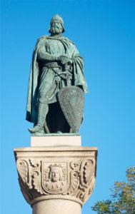 Birger Jarl Statue auf Riddarholmen, Stockholm. Foto aus Wikipedia