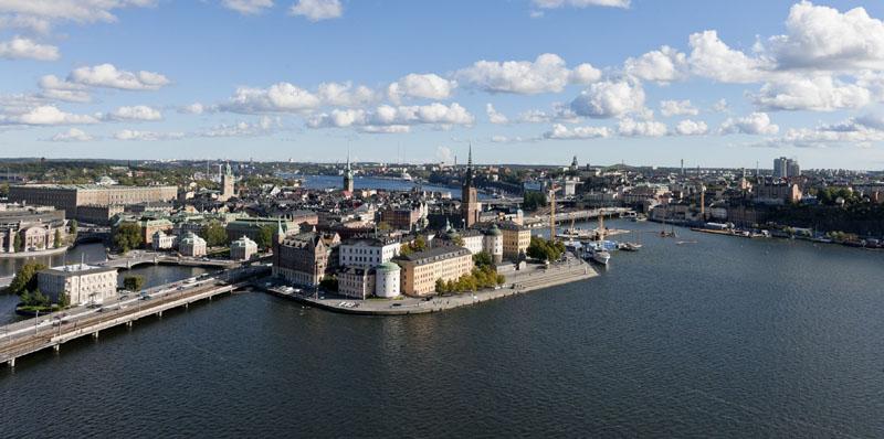Blick auf Riddarholmen. Foto: Henrik Trygg / imagebank.sweden.se