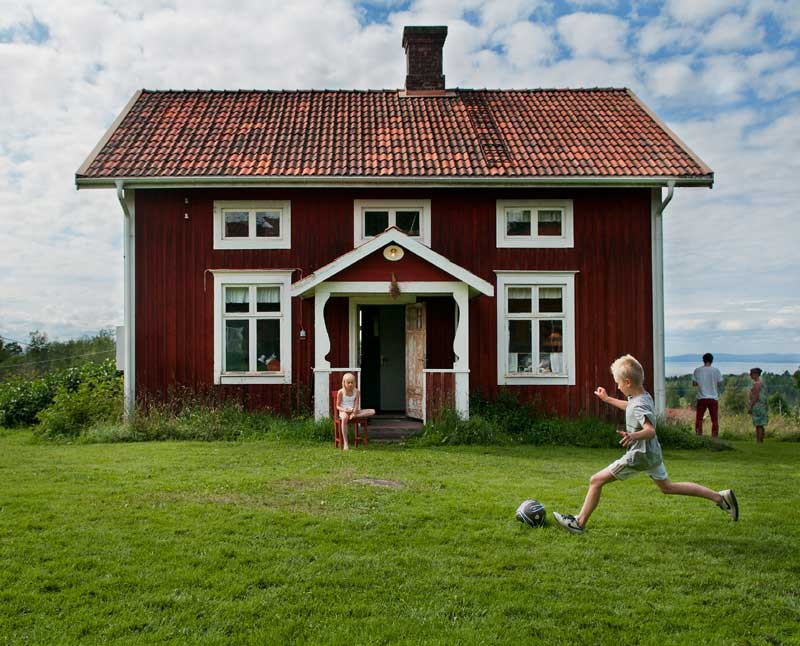 Traum und Tradition vieler Schweden. Ein Sommerhaus. Foto: Johan Willner, Imagebank Sweden.