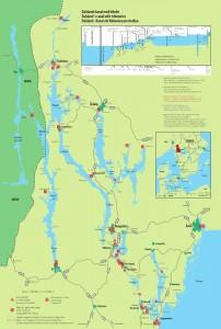 Karte vom Dalslandkanal