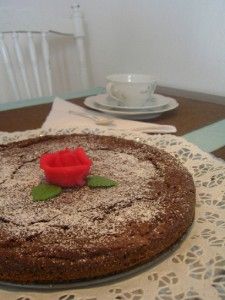 Kladkaka – schwedischer Schokoladenkuchen. Bild aus Wikipedia. Fotograph: Meloday