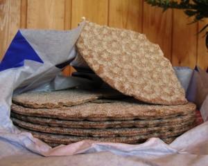 Traditionelles schwedisches Knäckebrot. Bild aus Wikipedia. Fotograf: Cymydog Naakka