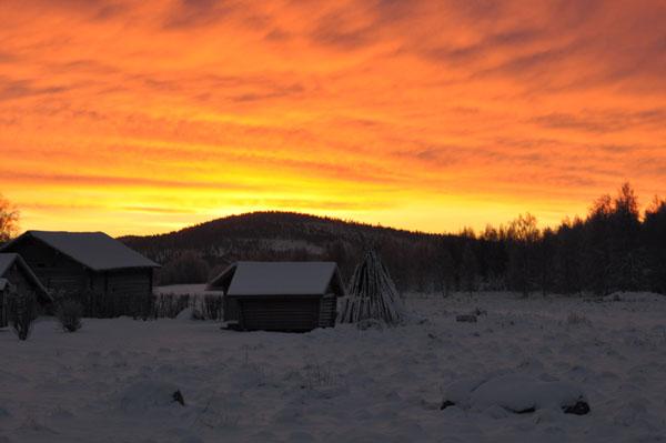 Morgenstimmung in Övertorneå; Foto: Henrik Jonsson